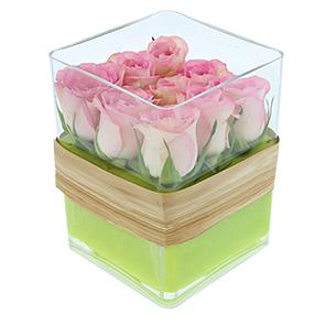 Bouquet de roses Cube de roses Amour