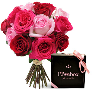 Fleurs et cadeaux Coffret soirée sensuelle Saint-Valentin