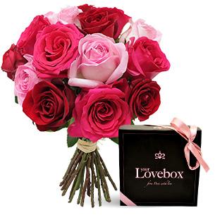 Fleurs et cadeaux Coffret soirée sensuelle Amour