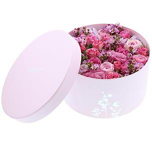 Bouquet de fleurs Glam'roses Saint-Valentin