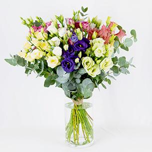 Bouquet de fleurs Bouquet de lisianthus Deuil