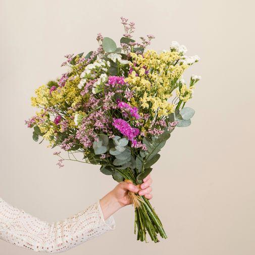 Bouquet de fleurs Brassée de Statices et Limoniums à faire sécher