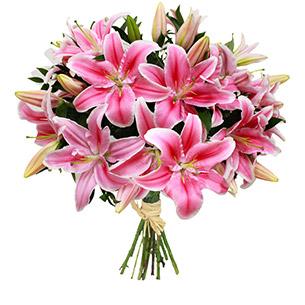 Fleurs et cadeaux Brassée de lys Anniversaire