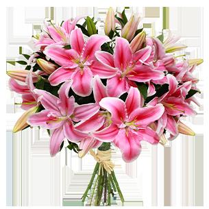 Fleurs et cadeaux Brassée de lys Bon rétablissement