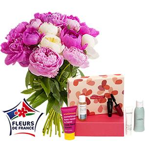 Fleurs et cadeaux Brassée de pivoines et sa box beauté Birchbox Fête des Mères