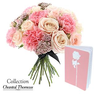 Bouquet de fleurs En rose et noir Saint-Valentin