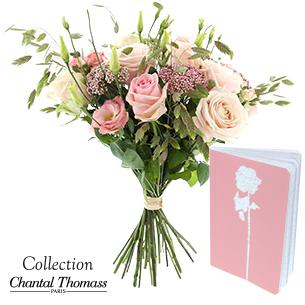 Bouquet de fleurs Rose Tendre Naissance