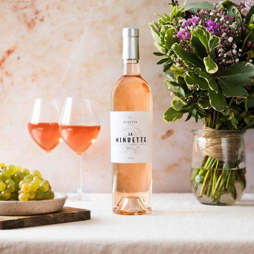 null Vin rosé La Minuette et ses chocolats Bonne fête Papa