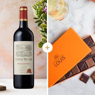 Fleurs et cadeaux Château Teyssier 2014 et ses chocolats