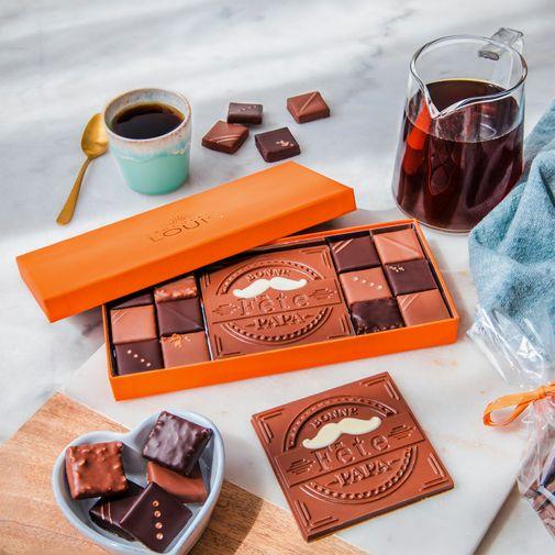 null Château Teyssier 2014 et ses chocolats Bonne fête Papa
