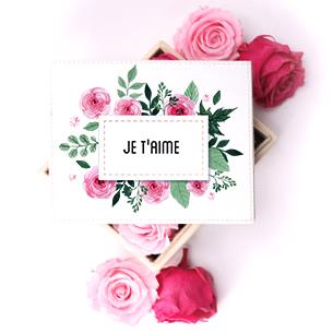 Bouquet de fleurs Boîte à bijoux et ses 6 roses éternelles Anniversaire
