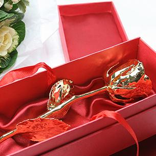 Fleurs et cadeaux Rose en or 24 carats - 38cm Amour