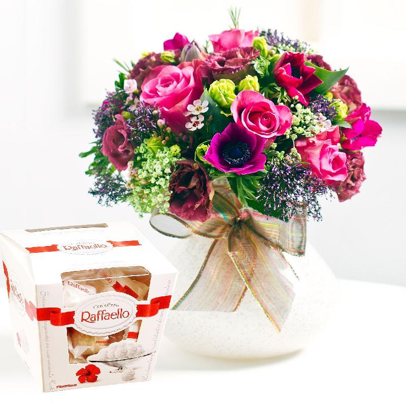 Bouquet de fleurs Bright Bouquet with candies