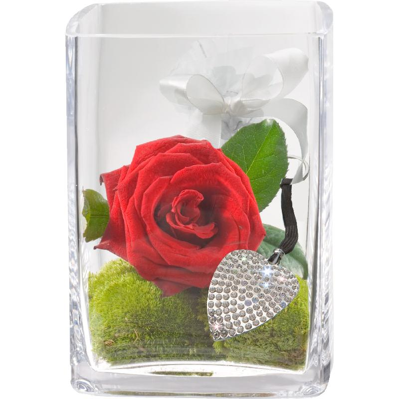 Bouquet de fleurs Key to My Heart, incl. key ring with 112 Swarovski® crystals