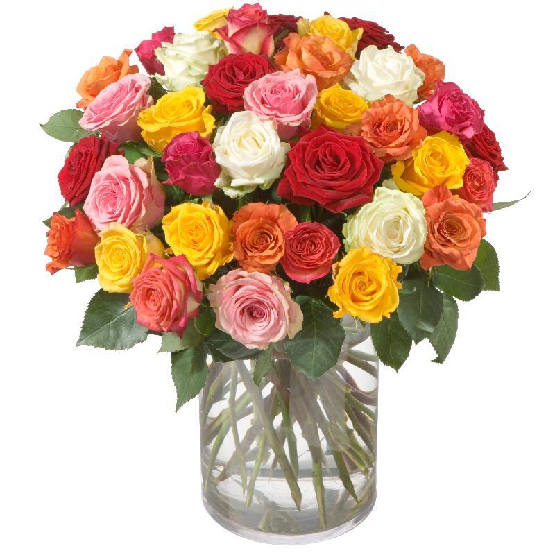 Bouquet de fleurs Colorful Bouquet of Roses (36 roses)
