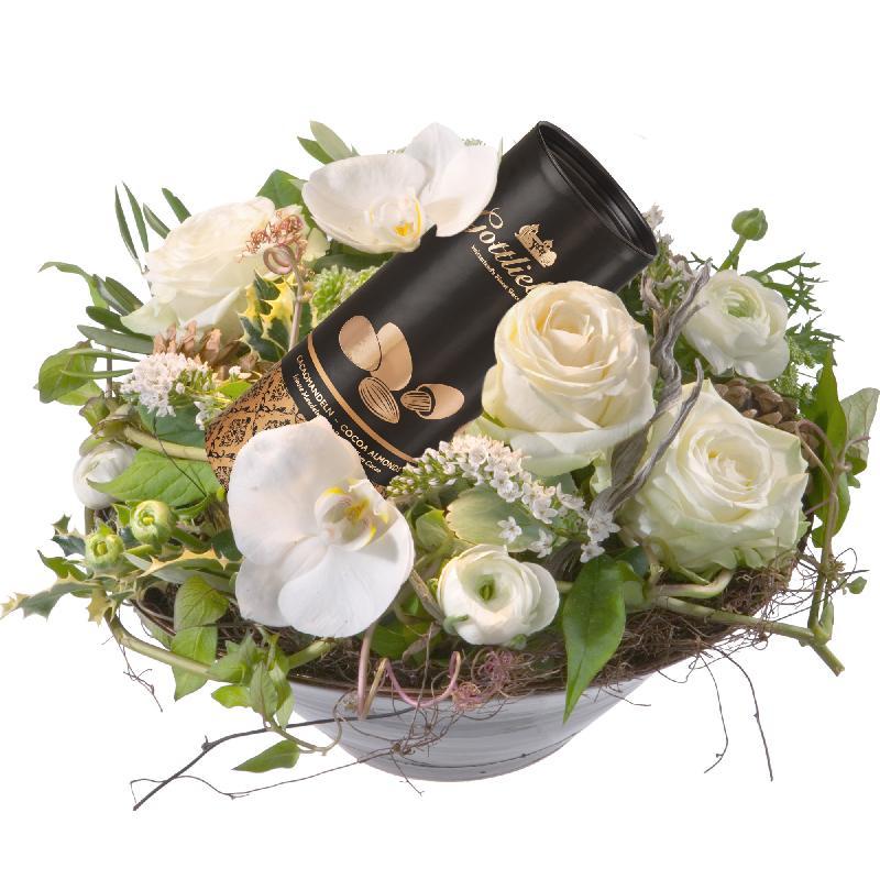 Bouquet de fleurs Deluxe and Sweet with Gottlieber cocoa almonds