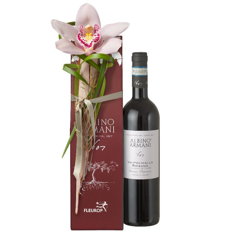 Bouquet de fleurs Elegance: Ripasso Albino Armani DOC (75cl)