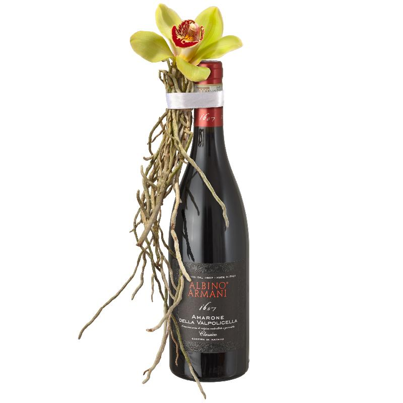 Bouquet de fleurs A Charming Genie in a Bottle:  Amarone Albino Armani  DOCG (