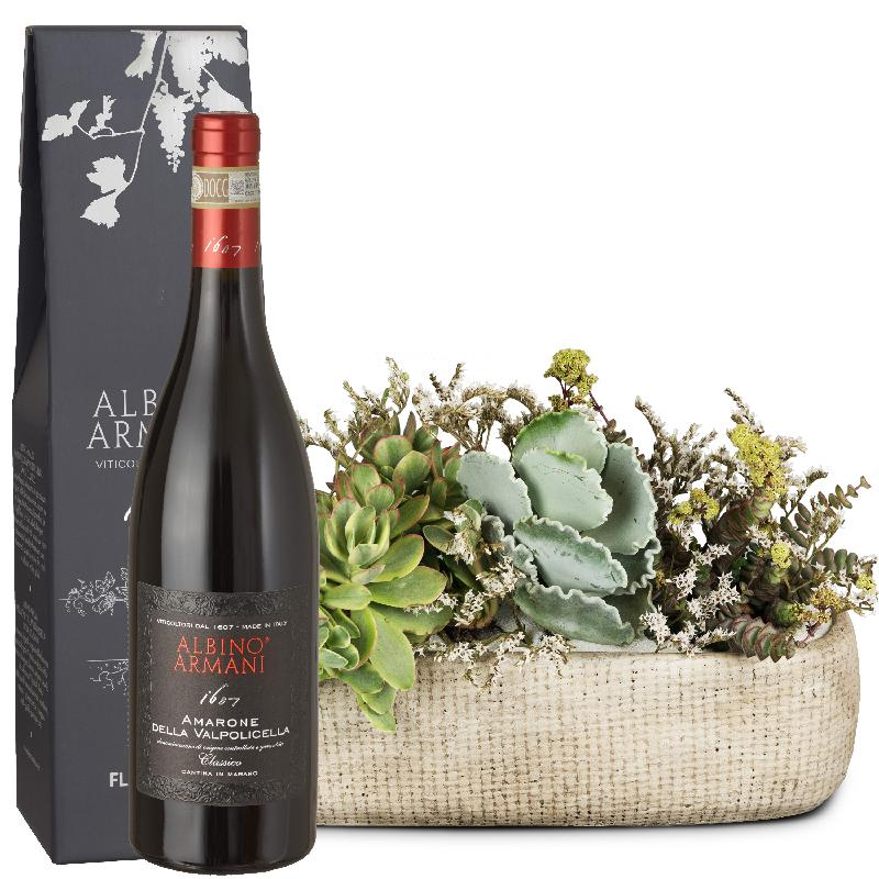 Bouquet de fleurs Desert Feeling with Amarone Albino Armani  DOCG (75cl)