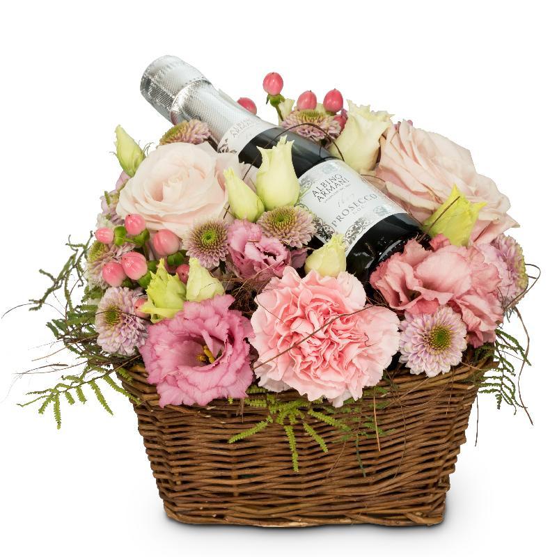 Bouquet de fleurs Flower Fairy with Prosecco Albino Armani DOC (20cl)