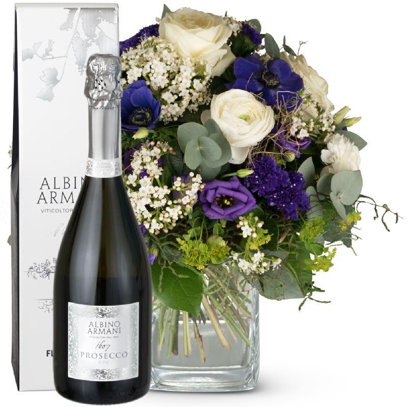 Bouquet de fleurs Heaven on Earth with Prosecco Albino Armani DOC (75cl)