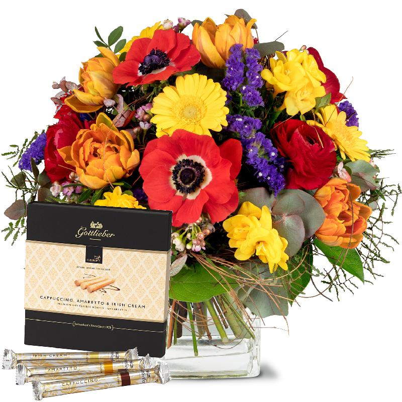 "Bouquet de fleurs Happy with Gottlieber Hüppen ""Special Edition for Fleurop"""