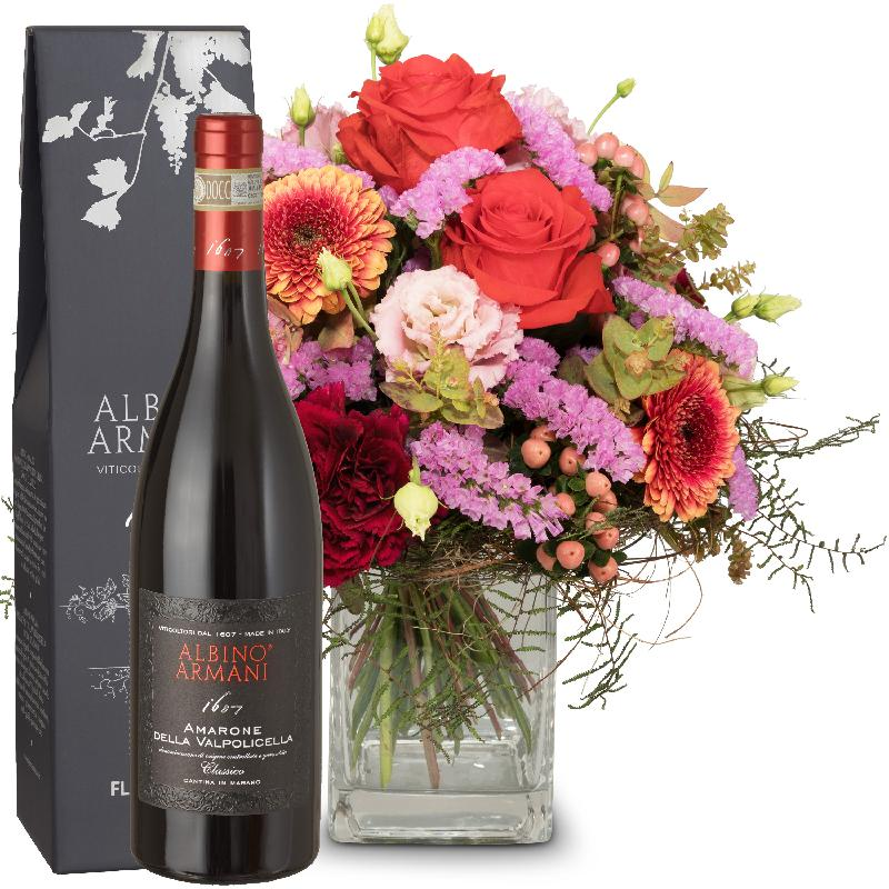 Bouquet de fleurs Colorful Wishes and  Amarone Albino Armani  DOCG (75cl)