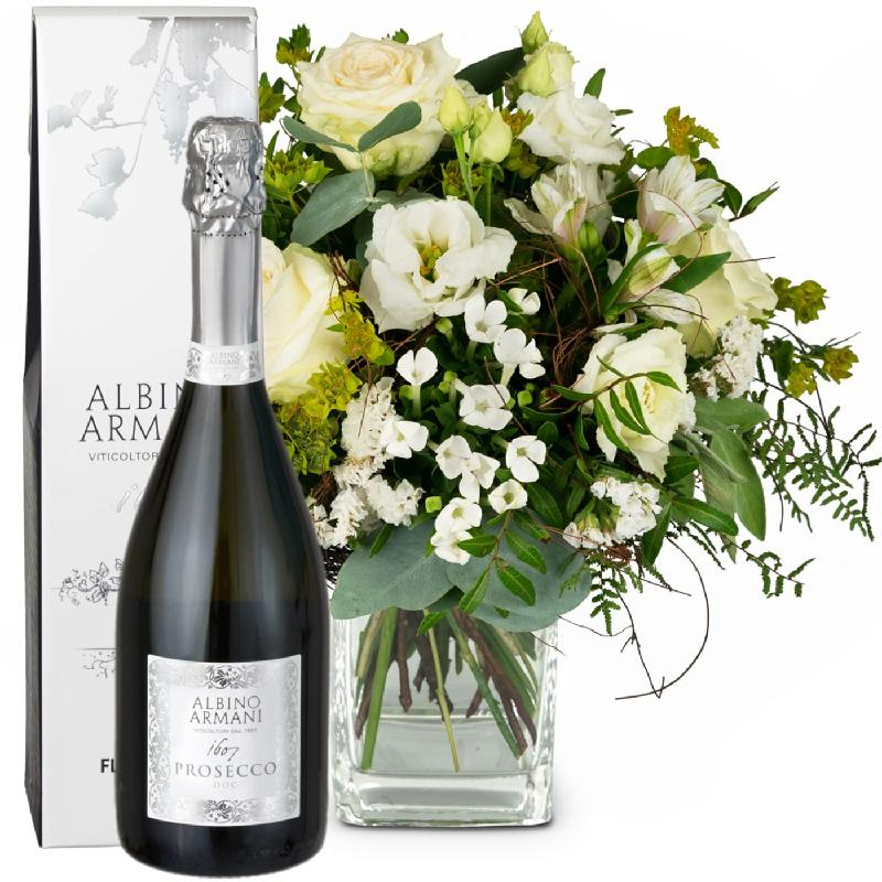Bouquet de fleurs Natural Magic of Blossoms with Prosecco Albino Armani DOC (7