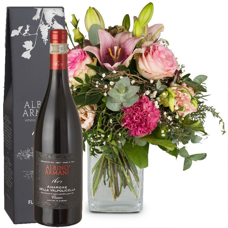 Bouquet de fleurs Lily Magic with Amarone Albino Armani  DOCG (75cl)