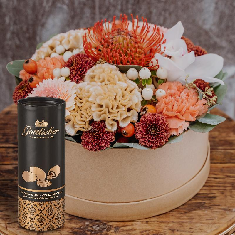 Bouquet de fleurs Flowerbox «Kariem Hussein» (SPECIAL EDITION) with Gottlieber