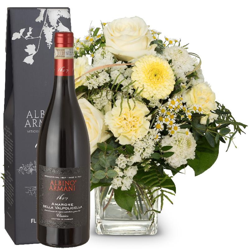 Bouquet de fleurs Natural lightness with Amarone Albino Armani  DOCG (75cl)