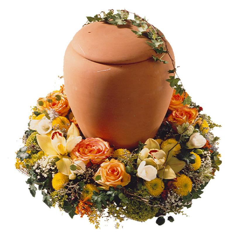 Bouquet de fleurs Wreath for a Urn (For the Cemetery)