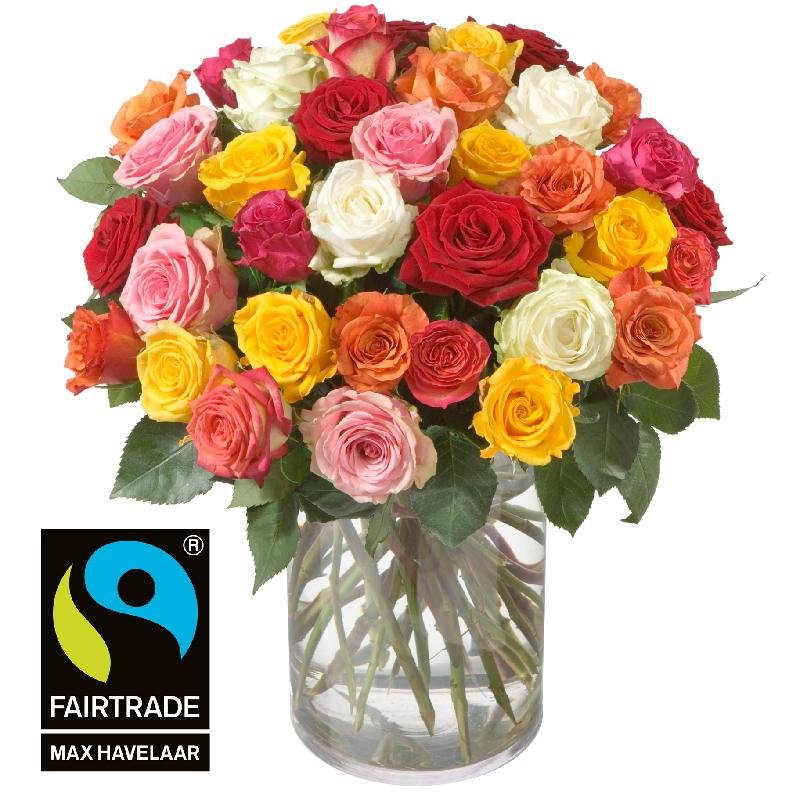 Bouquet de fleurs 36 Mixed Fairtrade Max Havelaar-Roses
