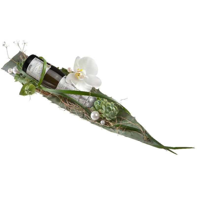 Bouquet de fleurs Cheers ... with Prosecco Albino Armani DOC (20cl)