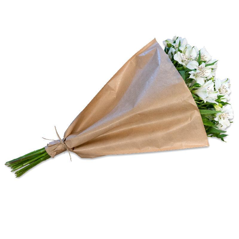 Bouquet de fleurs Bundle of white Alstroemeria