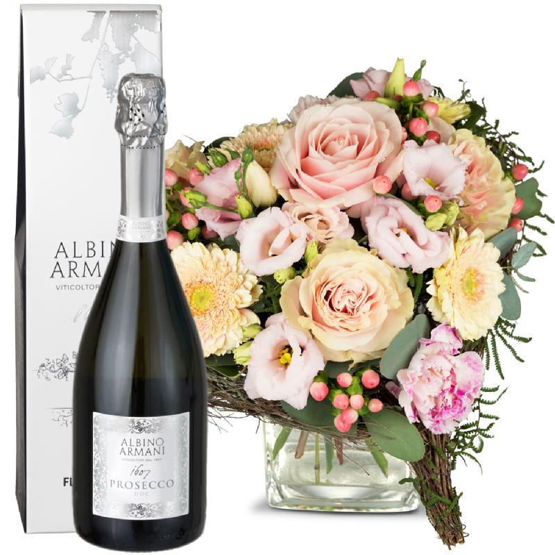 Bouquet de fleurs For my Princess, with Prosecco Albino Armani DOC (75cl)