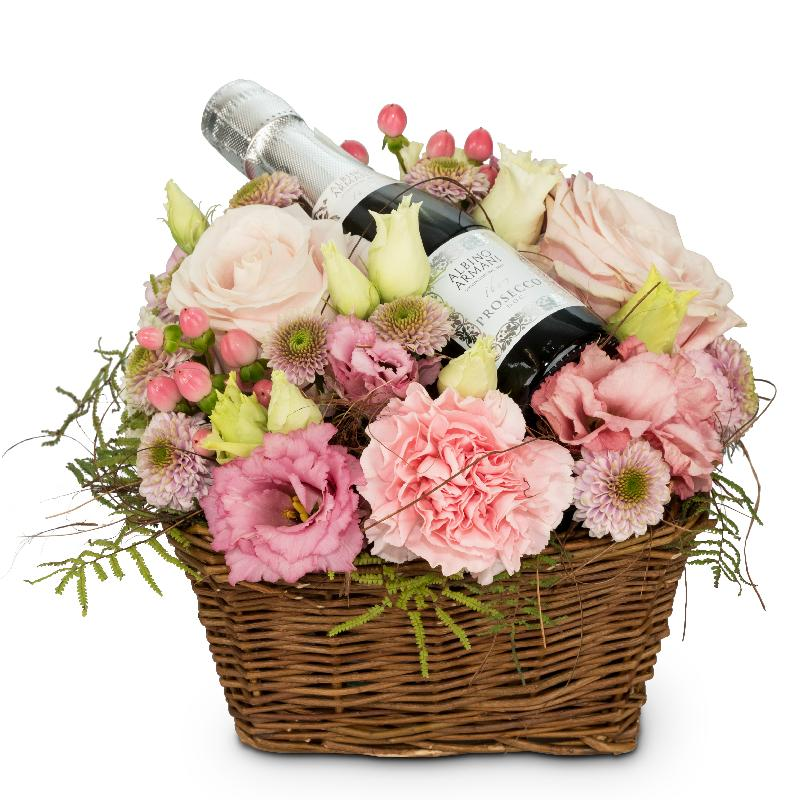 Bouquet de fleurs Flower Fairy with Prosecco Albino Armani DOC (20cl)