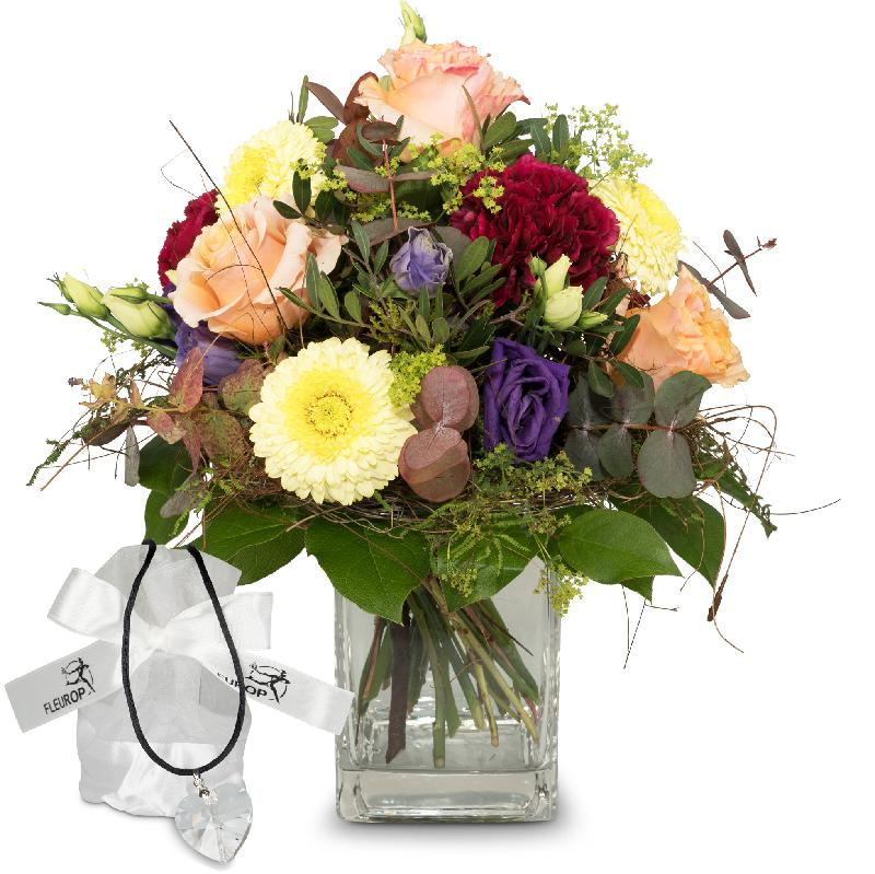 Bouquet de fleurs Colorful flower dream with Swarovski® crystal heart