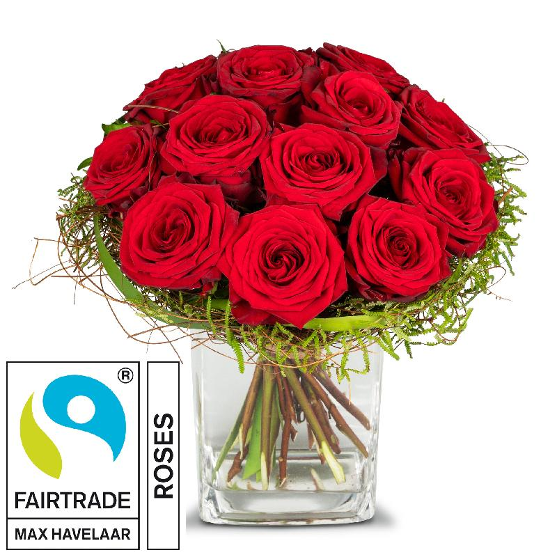 Bouquet de fleurs Small Pearl of Roses with Fairtrade Max Havelaar-Roses