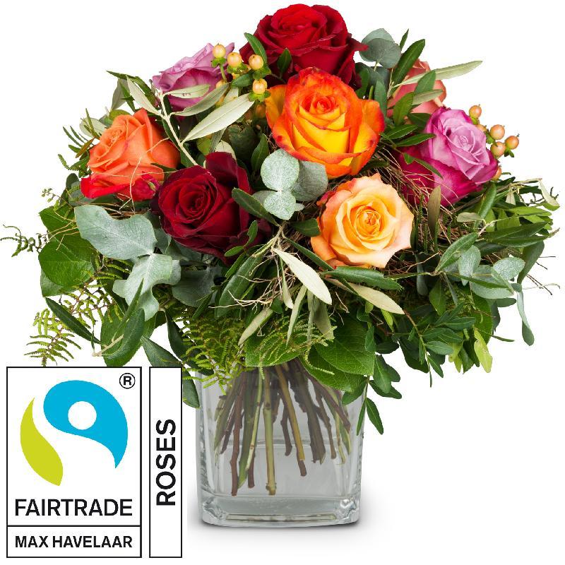 Bouquet de fleurs Bellissima with Fairtrade Max Havelaar-Roses