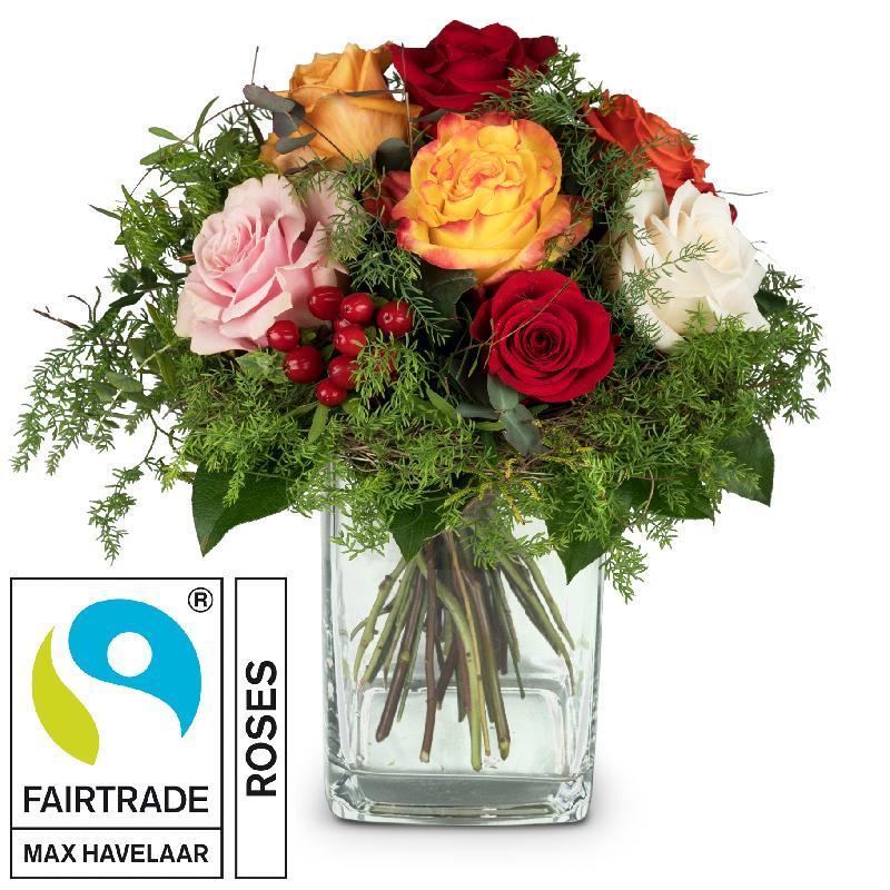 Bouquet de fleurs Magic of Roses with Fairtrade Max Havelaar-Roses