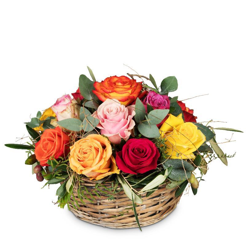 Bouquet de fleurs A Basket Full of Roses