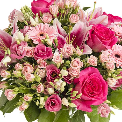 Fleurs deuil Bouquet prestige de fleurs roses