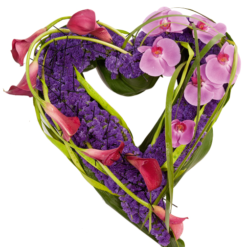 Fleurs deuil Cœur moderne multicolore