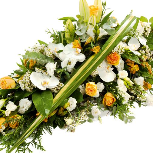 """Fleurs deuil Dessus de cercueil """"graphique"""" pastel"""