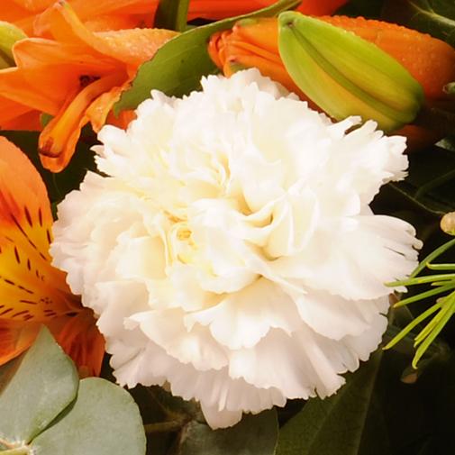 "Fleurs deuil Raquette ""tradition"" multicolore"
