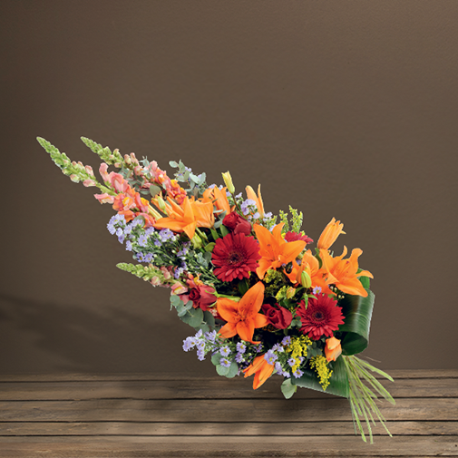 Fleurs deuil Gerbe à main multicolore