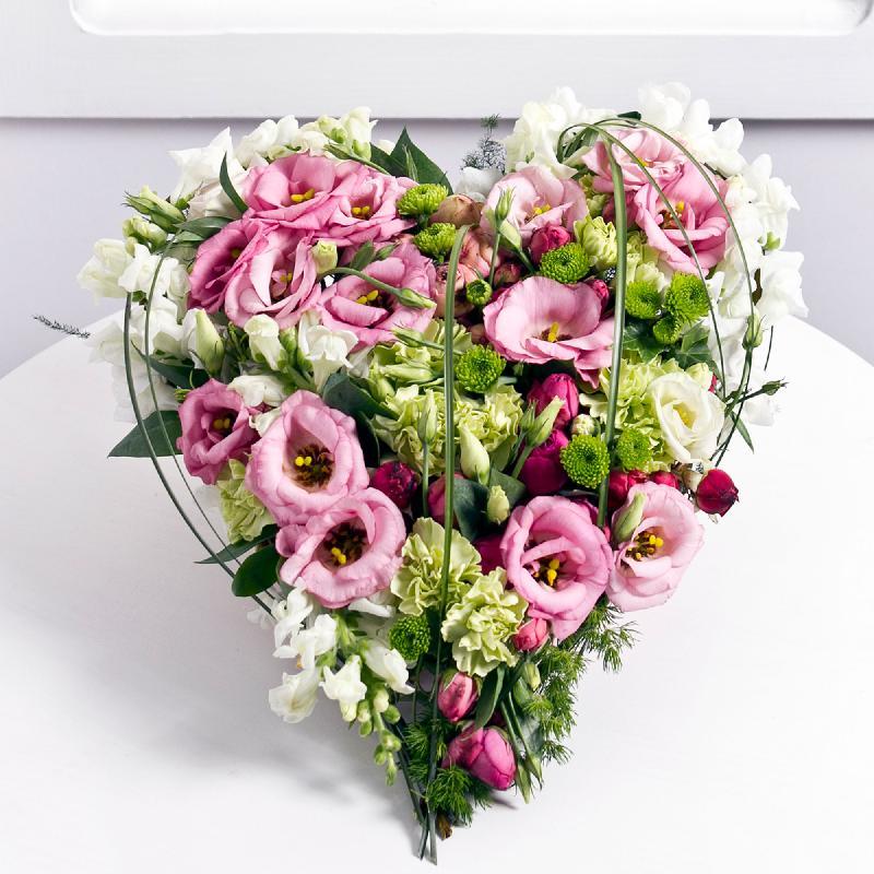 Bouquet de fleurs Heartshape arrangement