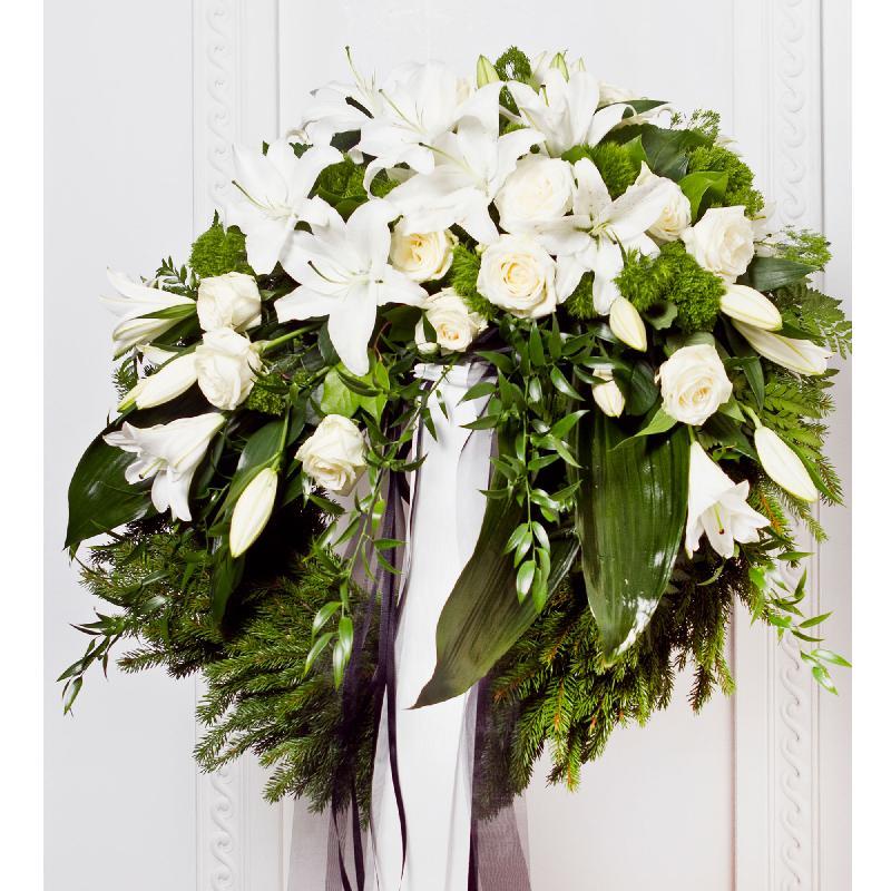 Bouquet de fleurs Wreath With Ribbon