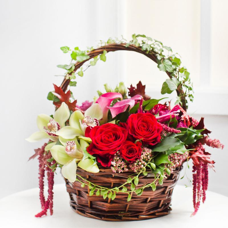 Bouquet de fleurs Wonderful Flower Arrangement in Basket
